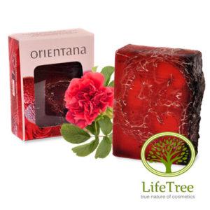 naturalne mydło luffa Róża Japońska i Liczi